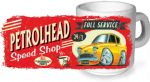 Koolart PERTOLHEAD SPEED SHOP Design with retro Ford Anglia 105e Super Ceramic Tea Or Coffee Mug